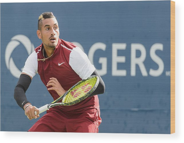 Tennis Wood Print featuring the photograph Rogers Cup Montreal - Day 4 by Minas Panagiotakis