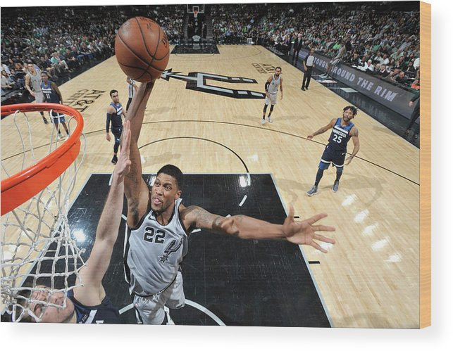 Nba Wood Print featuring the photograph Rudy Gay by Mark Sobhani