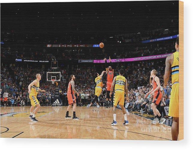 Nba Pro Basketball Wood Print featuring the photograph Russell Westbrook by Garrett Ellwood