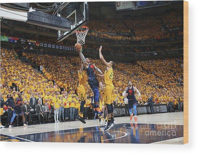 Playoffs Wood Print featuring the photograph Russell Westbrook by Melissa Majchrzak