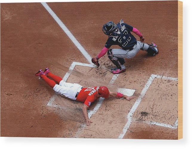 Baseball Catcher Wood Print featuring the photograph Ryan Zimmerman by Patrick Smith