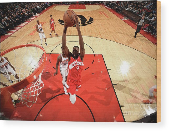 Nba Pro Basketball Wood Print featuring the photograph Serge Ibaka by Ron Turenne
