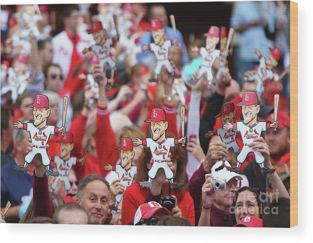 St. Louis Cardinals Wood Print featuring the photograph Stan Musial by Dilip Vishwanat