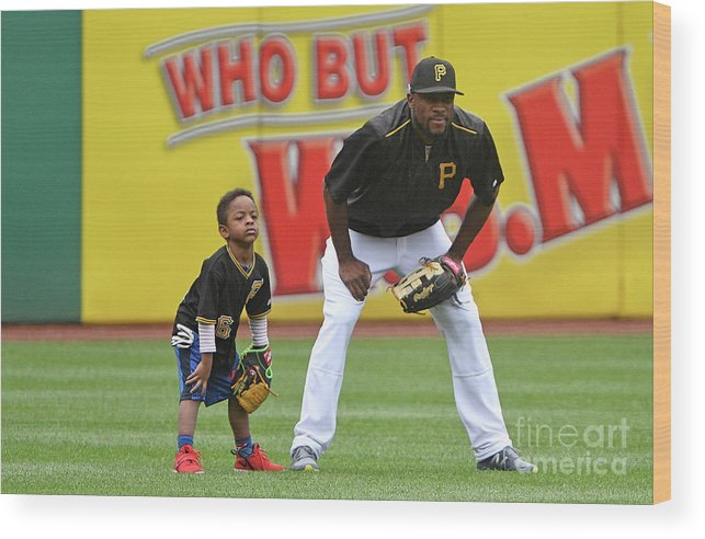 People Wood Print featuring the photograph Starling Marte by Justin Berl