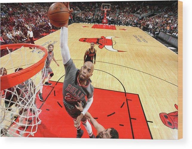 Nba Pro Basketball Wood Print featuring the photograph Taj Gibson by David Sherman