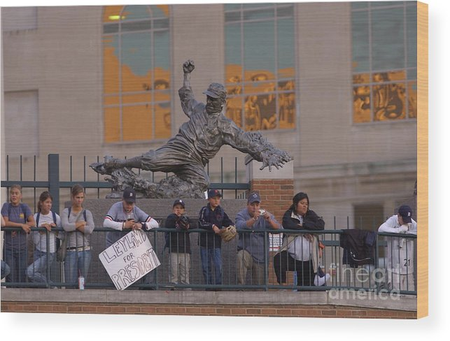 American League Baseball Wood Print featuring the photograph Ty Cobb by Mark Cunningham