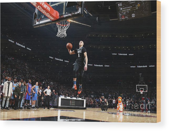 Event Wood Print featuring the photograph Zach Lavine by Nathaniel S. Butler