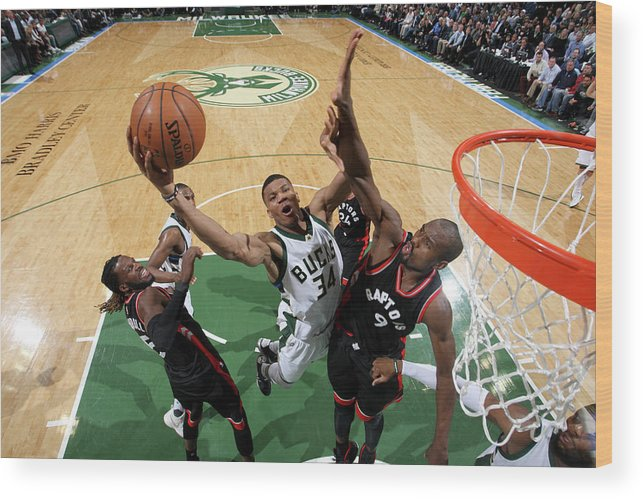 Playoffs Wood Print featuring the photograph Giannis Antetokounmpo by Gary Dineen