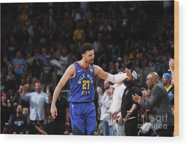 Playoffs Wood Print featuring the photograph Jamal Murray by Garrett Ellwood