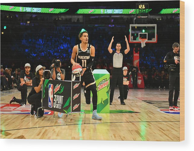Nba Pro Basketball Wood Print featuring the photograph 2020 NBA All-Star - MTN DEW 3-Point Contest by Jesse D. Garrabrant