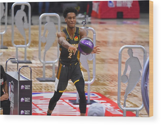 Nba Pro Basketball Wood Print featuring the photograph 2020 NBA All-Star - Taco Bell Skills Challenge by Bill Baptist