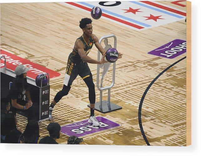 Nba Pro Basketball Wood Print featuring the photograph 2020 NBA All-Star - Taco Bell Skills Challenge by David Sherman