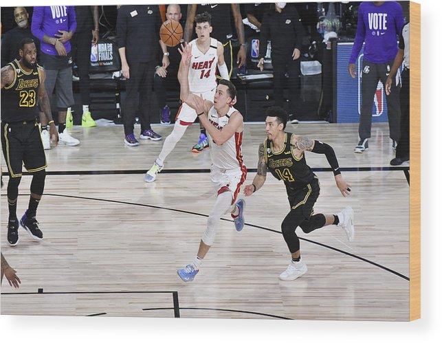 Playoffs Wood Print featuring the photograph 2020 NBA Finals - Miami Heat v Los Angeles Lakers by Fernando Medina