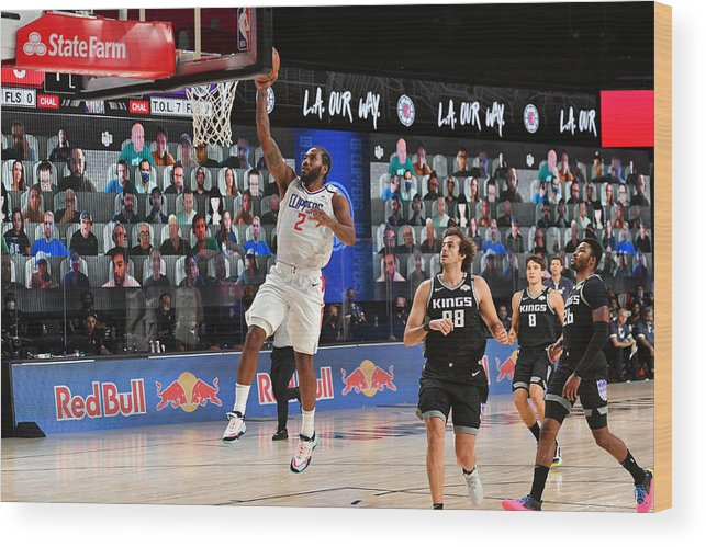 Nba Pro Basketball Wood Print featuring the photograph Kawhi Leonard by Jesse D. Garrabrant