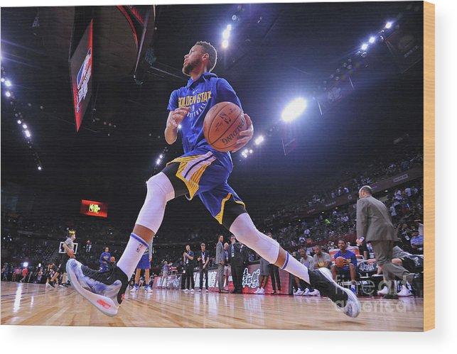 Event Wood Print featuring the photograph Stephen Curry by Noah Graham