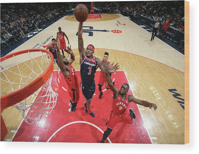 Nba Pro Basketball Wood Print featuring the photograph Bradley Beal by Ned Dishman