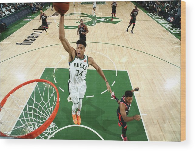Playoffs Wood Print featuring the photograph Giannis Antetokounmpo by Nathaniel S. Butler