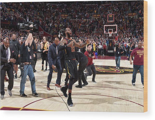 Playoffs Wood Print featuring the photograph Lebron James by David Liam Kyle
