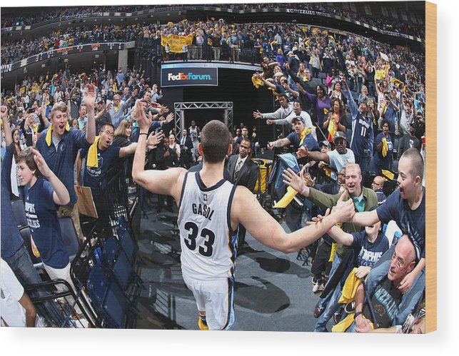 Playoffs Wood Print featuring the photograph Marc Gasol by Joe Murphy