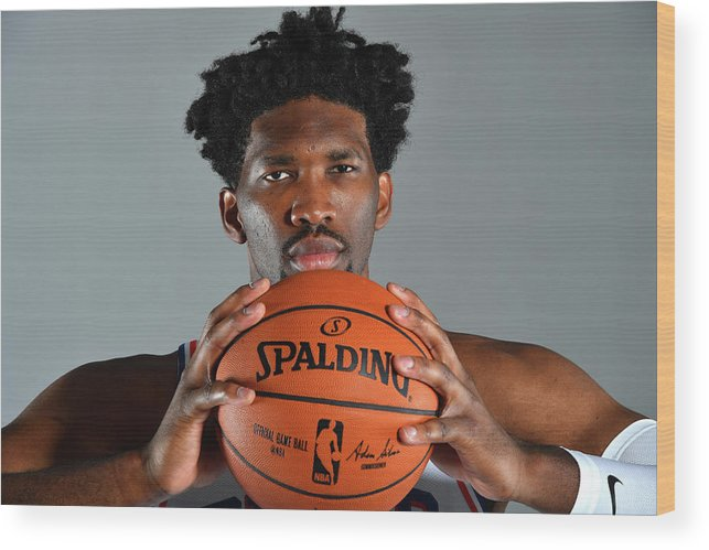 Media Day Wood Print featuring the photograph Joel Embiid by Jesse D. Garrabrant