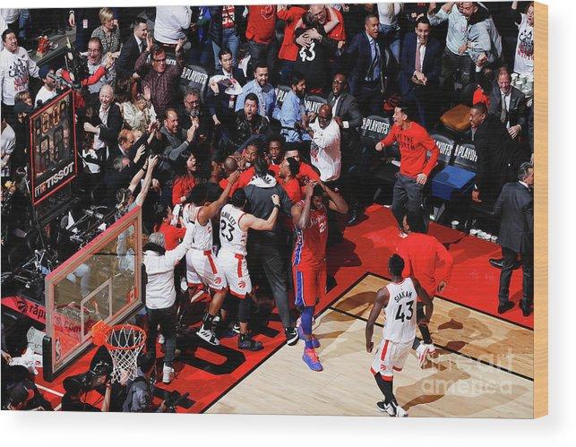 Playoffs Wood Print featuring the photograph Kawhi Leonard by Mark Blinch