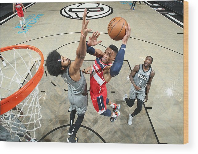 Nba Pro Basketball Wood Print featuring the photograph Russell Westbrook by Nathaniel S. Butler