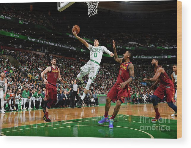 Playoffs Wood Print featuring the photograph Jayson Tatum by Brian Babineau