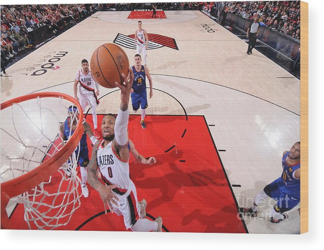 Event Wood Print featuring the photograph Damian Lillard by Sam Forencich