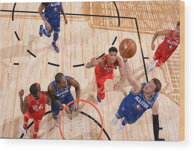 Nba Pro Basketball Wood Print featuring the photograph 69th NBA All-Star Game by Jesse D. Garrabrant