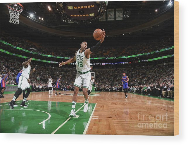Nba Pro Basketball Wood Print featuring the photograph Al Horford by Brian Babineau