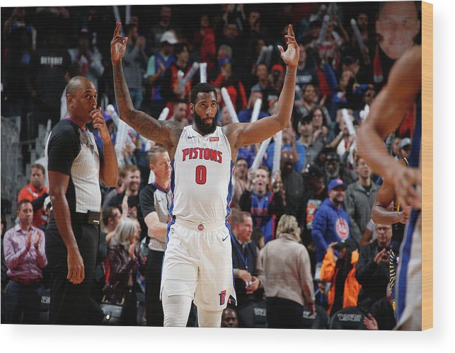 Nba Pro Basketball Wood Print featuring the photograph Andre Drummond by Brian Sevald
