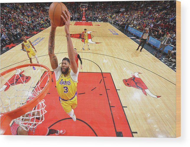 Nba Pro Basketball Wood Print featuring the photograph Anthony Davis by Jesse D. Garrabrant