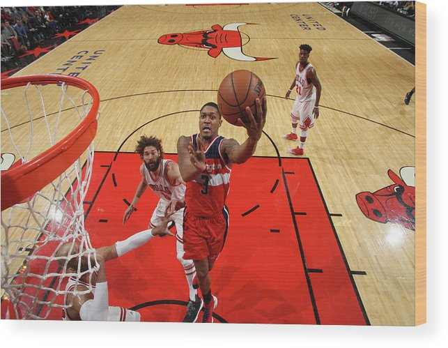 Nba Pro Basketball Wood Print featuring the photograph Bradley Beal by Gary Dineen