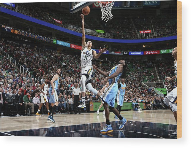 Nba Pro Basketball Wood Print featuring the photograph Dante Exum by Melissa Majchrzak