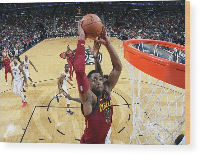 Smoothie King Center Wood Print featuring the photograph Dwyane Wade by Layne Murdoch