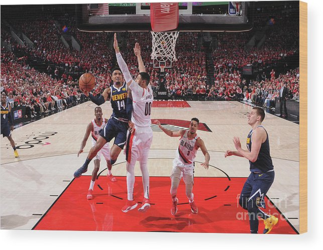 Playoffs Wood Print featuring the photograph Gary Harris by Sam Forencich