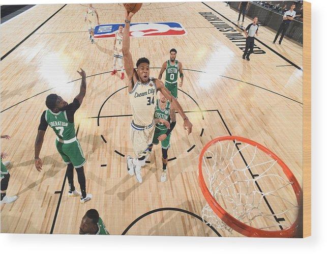 Nba Pro Basketball Wood Print featuring the photograph Giannis Antetokounmpo by Garrett Ellwood