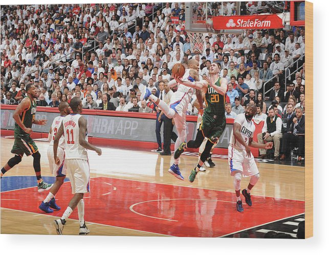 Playoffs Wood Print featuring the photograph Gordon Hayward by Andrew D. Bernstein