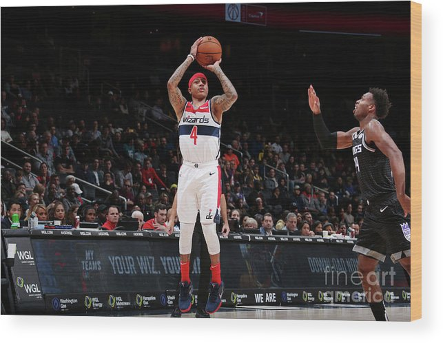 Nba Pro Basketball Wood Print featuring the photograph Isaiah Thomas by Ned Dishman