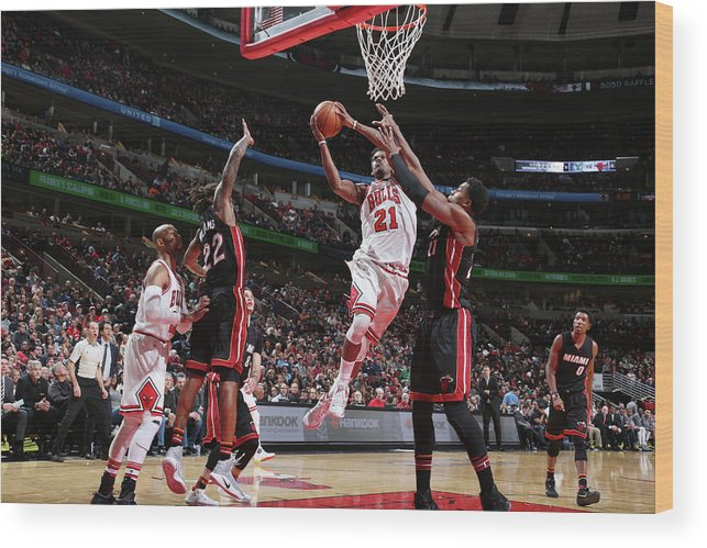 Nba Pro Basketball Wood Print featuring the photograph Jimmy Butler by Nathaniel S. Butler