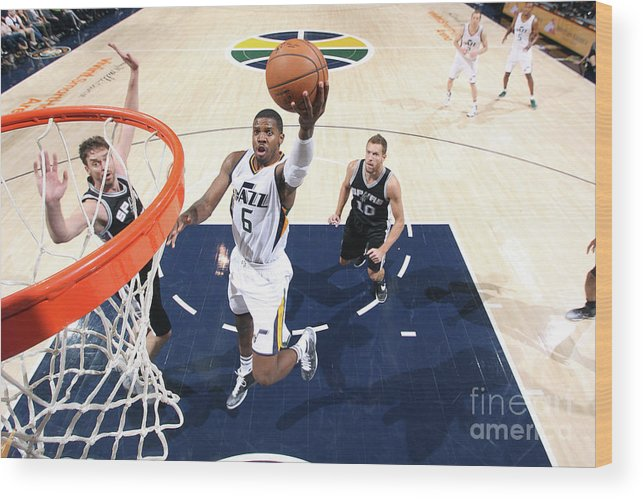 Nba Pro Basketball Wood Print featuring the photograph Joe Johnson by Melissa Majchrzak
