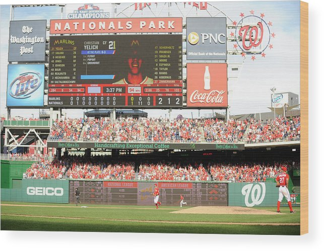 Ball Wood Print featuring the photograph Jordan Zimmermann by Mitchell Layton