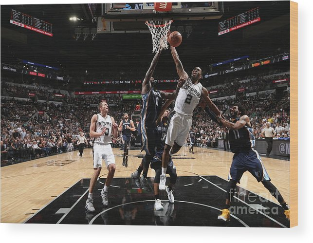 Playoffs Wood Print featuring the photograph Kawhi Leonard by Joe Murphy
