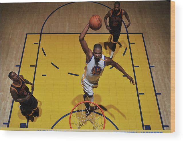 Playoffs Wood Print featuring the photograph Kevin Durant by Garrett Ellwood