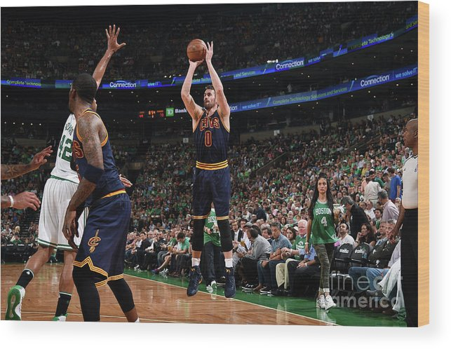 Playoffs Wood Print featuring the photograph Kevin Love by Brian Babineau