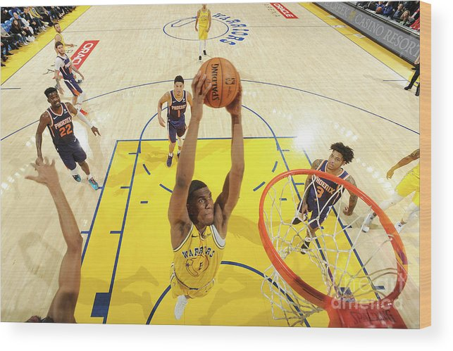 Nba Pro Basketball Wood Print featuring the photograph Kevon Looney by Noah Graham