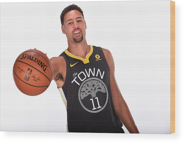Media Day Wood Print featuring the photograph Klay Thompson by Noah Graham