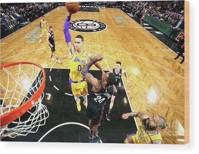 Nba Pro Basketball Wood Print featuring the photograph Kyle Kuzma by Nathaniel S. Butler