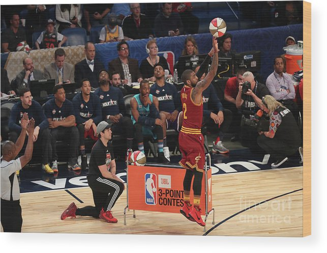 Event Wood Print featuring the photograph Kyrie Irving by Joe Murphy