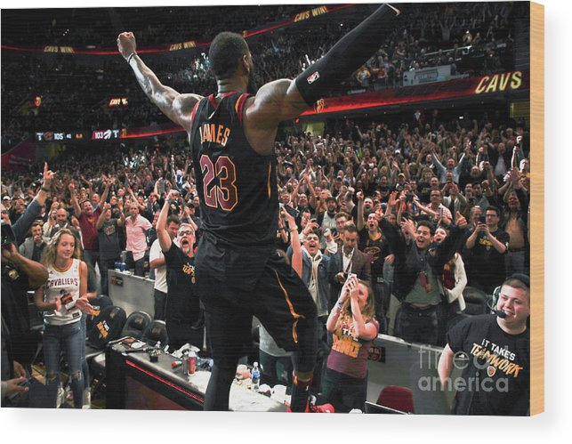 Playoffs Wood Print featuring the photograph Lebron James by Jeff Haynes
